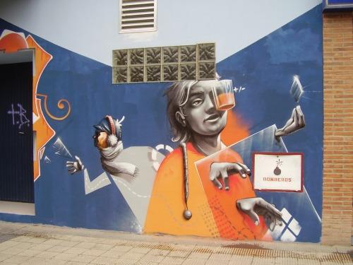 Graffiti a lado de la casa de Arrako hecho por Isaac M.